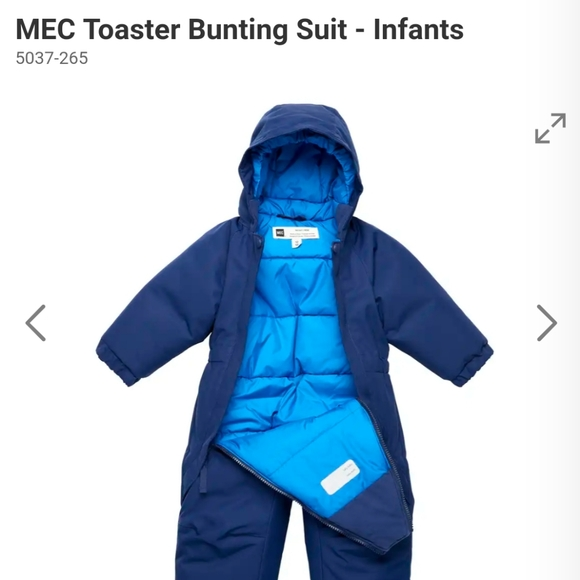 MEC toaster suit SNOWSUIT